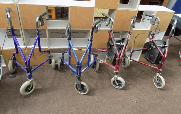 4 mobility walkers - require cleaning