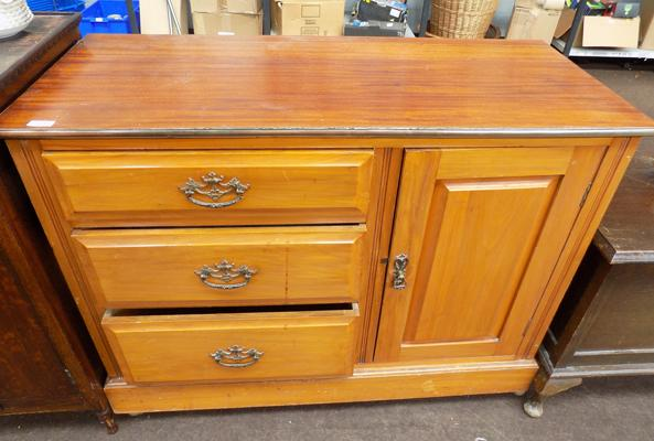 Three drawer sideboard with cupboard