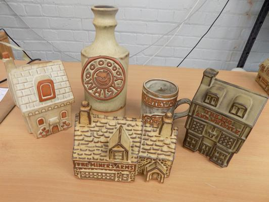 Selection of Shelf/Tremar money boxes and pots