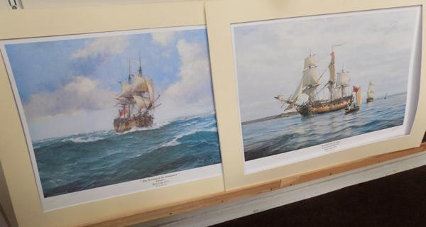 Pair of signed limited edition prints by Robin Brooks (186/850) + (466/850) - stamped