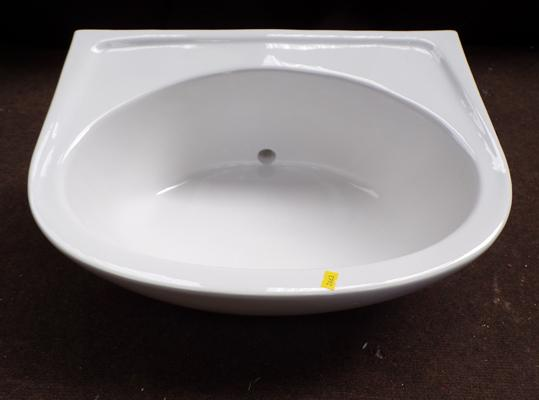 White porcelain wash basin (new in box) - 20 inches wide