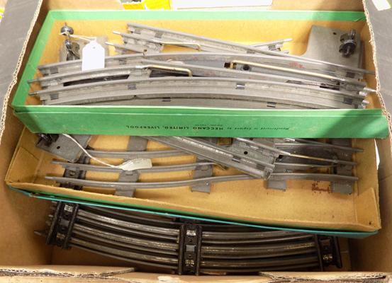 Hornby 3 rail, '0' gauge, 20 pieces of track + 4 as new boxed points