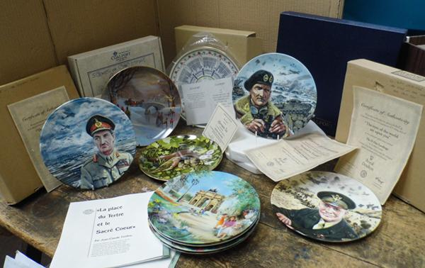 Assortment of collectable plates with certs. incl. Limoges, Coalport and Royal Doulton