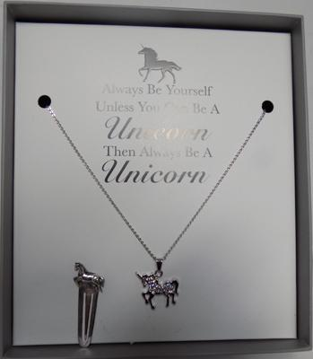 Sterling silver bookmark and Unicorn gift set