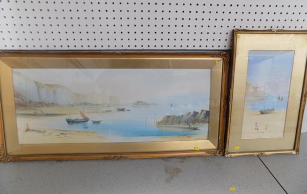 Pair of R. Raymond signed watercolours