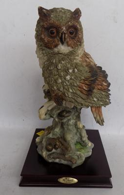 La Anina Collection - Paris - Limited Edition, Collector's Issue, model No. 51325, 'The Owl at Rest' 11 inches, no damage