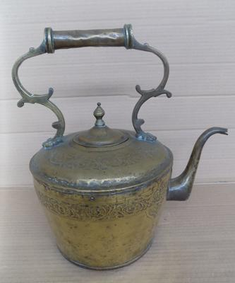Brass kettle approx 13.5 inches high