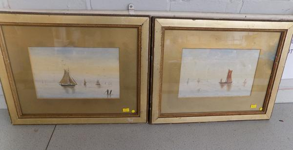 Pair of late Victorian water scenes, signed by artist