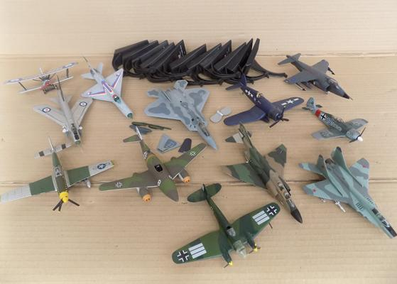 Large selection of diecast planes