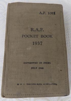 1937 RAF pocket book with maps inside