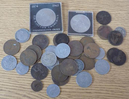 Collection of coins incl. crown/ penny's and shillings