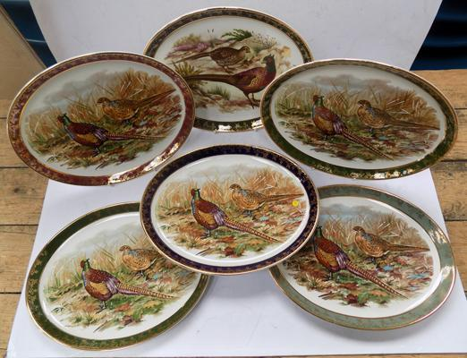 6 Weatherby Royal Falcon giftware plates