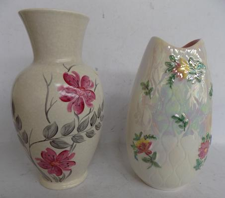 "Crown Devon and Maling - 9"" vases"