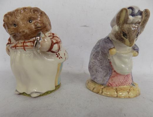 Beswick ware gold stamp - Mrs Tiggy Winkle & Royal Albert gold stamp - 'Lady Mouse made a Curtsy', no damage found