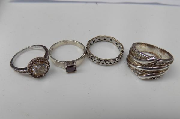 3 silver rings + 1 gold & silver ring