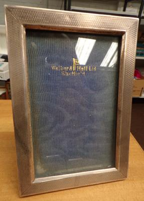 Silver Walker & hall picture frame