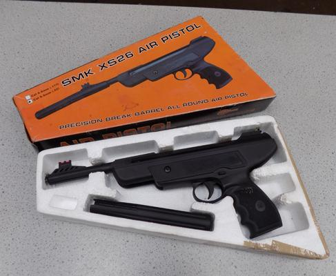 SMK XS26  .22 air pistol, good condition with original box