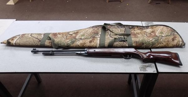 SMK .22 air rifle with case