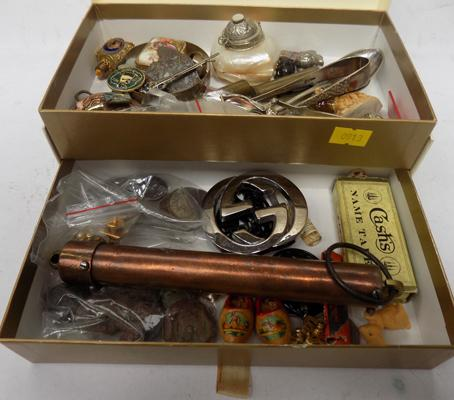 Box of assorted silver and collectables