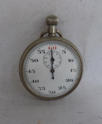 Vintage chrome cased pocket stop watch - fully working