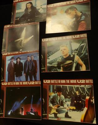 Set of lobby cards for U2 - 'Rattle & Hum'