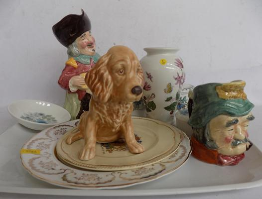 10 named ceramics incl. Sylvac, Clarke Cuff, Wedgwood and Portmeiron - all good condition