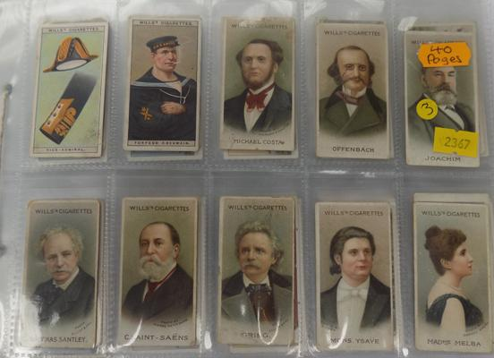 Mixed cigarette cards