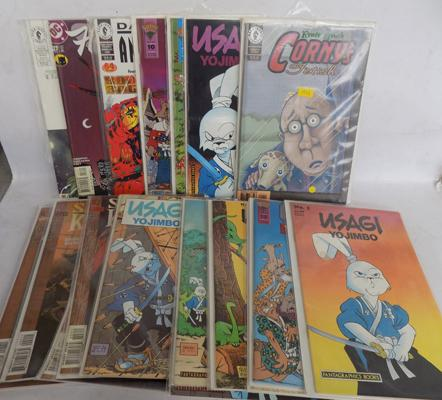 Collection of 21 vintage adult comics in plastic sleeves