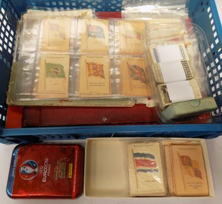 Cigarette cards, silk flags and other collectables