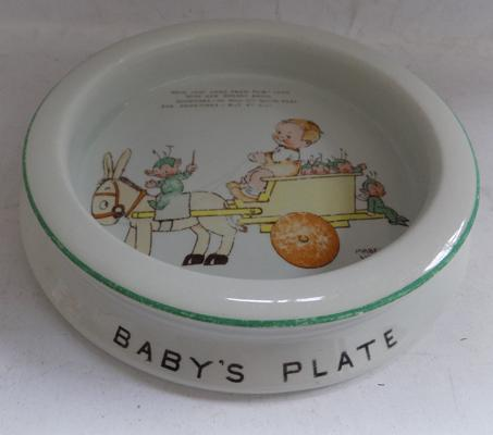 Vintage 1930's Shelley-Mabel Lucie Attwell baby's plate