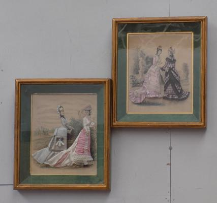 Two framed prints - Dressed by Mary Howarth in 1953