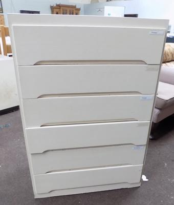 6 drawer painted unit