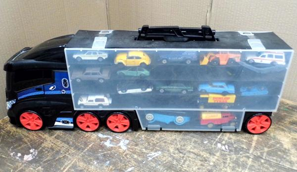 Toy truck and 15 cars - various conditions