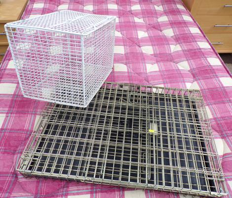 Foldable pet cage + small animal carrier