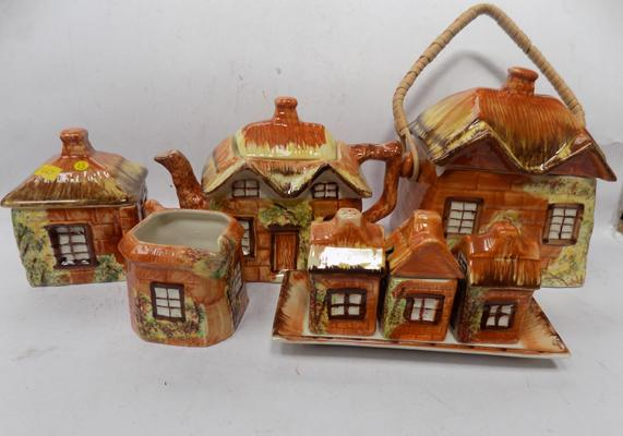 Selection of cottage pottery