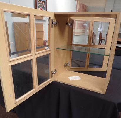 Back & front display cabinet