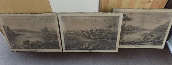3x 1753 Paintings by Will Bellers with age related damage