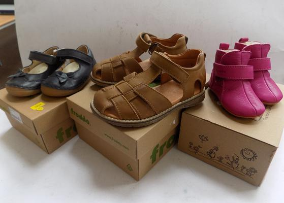 3x Boxed pairs of new & branded children's shoes