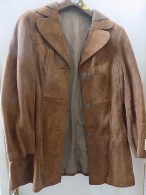 Ladies suede jacket, 3/4 length, size small