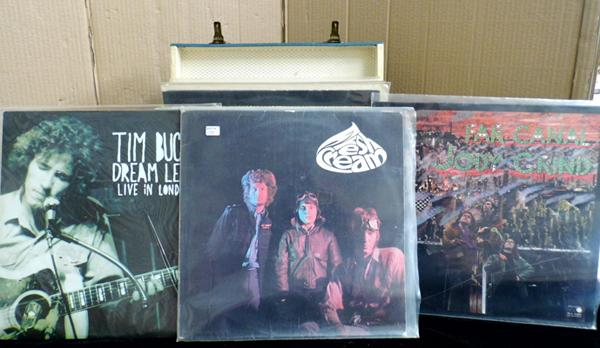 Selection of LP's incl. Tim Buckley, Cream and Jody Grind, Pink Floyd - in retro case