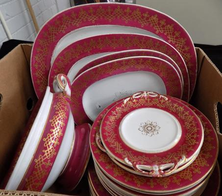 Part set of continental dinner service