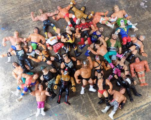 Assortment of 30 WWE figures