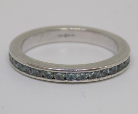 Sterling silver eternity ring - full hallmark