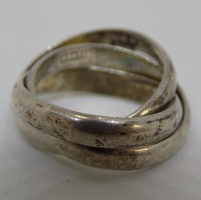 Silver Russian wedding ring - small