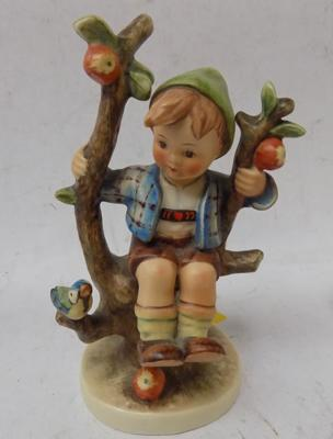 Hummel figure - boy on swing - approx. 6 inches tall