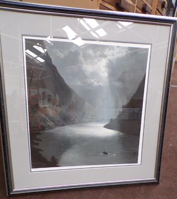 Framed print of Moonlight by Ellenshaw, signed with certificate of authenticity