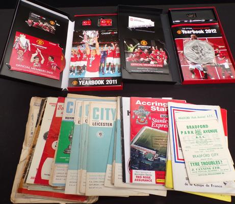 50 plus 1950's/60's football programmes incl. BPA plus Manchester United sets