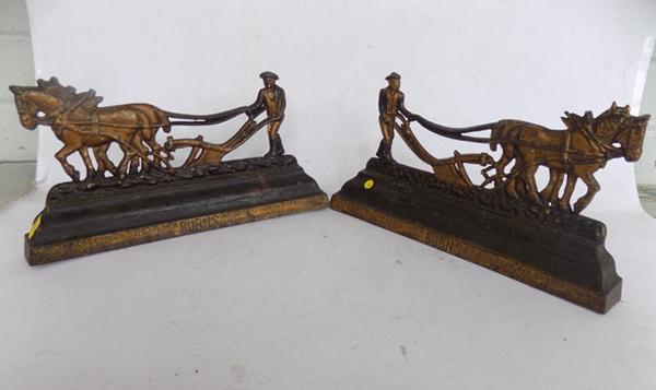 Pair of hearth ornaments