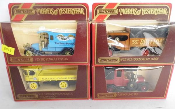 4 boxed Matchbox Yesteryear advertising lorries