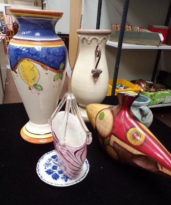 Selection of five decorative vases